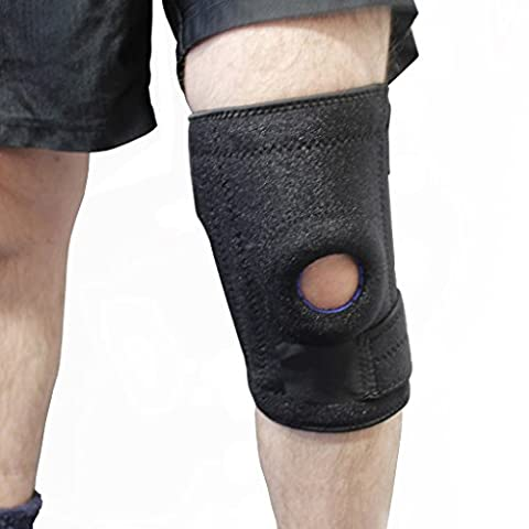 KurtzyTM Adjustable Neoprene Knee Brace Support Patella Recovery Sleeve For Compression, Strains,