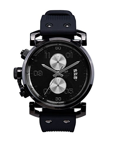Vestal Men's Uss Observer Chrono Polished Watches OBCS013 One Size Black Silver