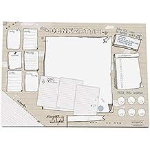 Witzige Schreibtischunterlage aus Papier | DENKZETTEL Design für kreative Köpfe | Din A3 (30 x 42 cm), 25 Blatt, zum Abreißen | Schreibunterlage Abreißblock | hochwertiges Recyclingpapier