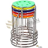 Da URBAN Multi Colour Multi Purpose Stool (Set of 5) ISO and BIFMA Certified