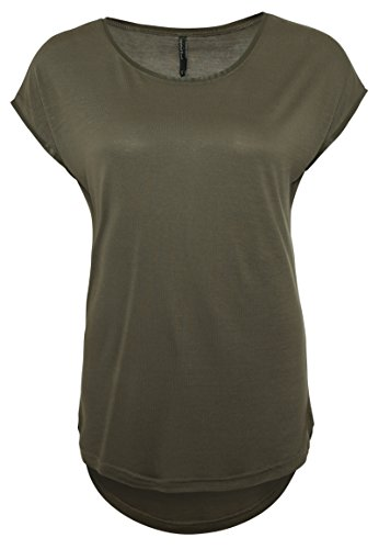 ic Shirt Serina | Elegantes T-Shirt mit Lederimitatblenden Dark-Green S (Dark Angel Outfit)