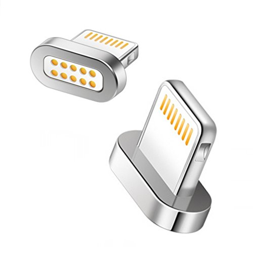 Magnetischer USB Adapter [Apple MFi zertifiziert] VIDARE Lightning Adapter für iPhone 7 / 7 Plus / 6 / 6 Plus / 6s / 6s Plus / 5 / 5c / 5s, iPad Pro Air Air 2 mini2 mini3, iPod - iOS (ohne Kabel) (Akku Ersatz Für Iphone 3gs)