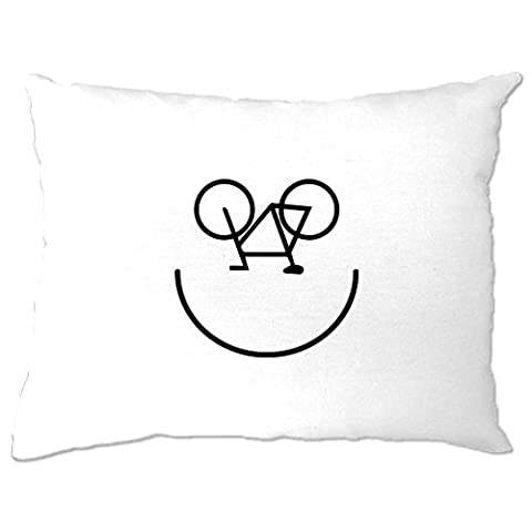 Fahrrad-Smiley, Printed Designer Logo Neuheit Radfahrer Kunstsommer Kissenbezuge
