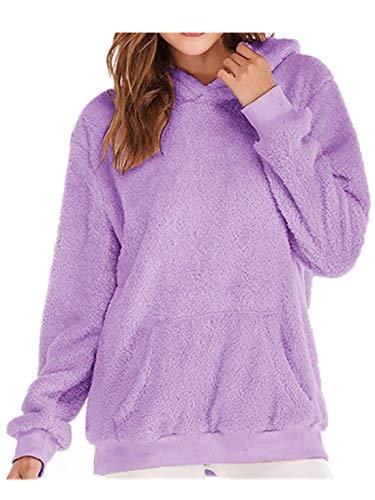 Mujer Caliente y Esponjoso Tops Chaqueta Suéter Abrigo Jersey Mujer Otoño- Invierno Talla Grande Hoodie 54a57395d09a