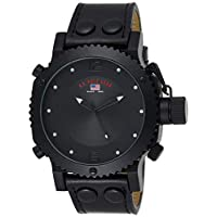 U.S. Polo Assn. Classic Men's US4024 Black Analog Leather Strap Watch