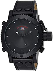 U.S. Polo Assn. Classic Men's US4024 Black Analog Leather Strap W