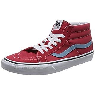 Vans Unisex-Erwachsene Sk8-mid Reissue Hohe Sneaker Rot (Rococco Red/Adriatic Blue Q8c) 42 EU
