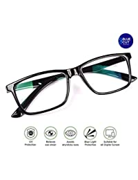1900c5d50ab Metrovision Blue Ray Cut UV420 Unisex Wayfarer Spectacle for Eye Protection  During Watching TV Using Computer