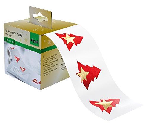 SIGEL CS117 Rollo 200 stickers navideños adhesivos