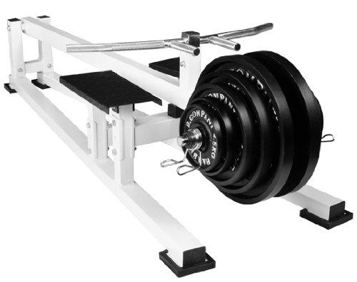 Bad Company Rudergerät I Indoor Rowing Machine mit T-Bar I Rudermaschine für das Ganzkörpertraining - Weiß I BCA-22