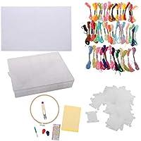 B Baosity Kit de Costura Tela Bordada Ganchillo Alfiler Hilo Caja de Almacenaje