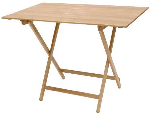 Sf savino filippo tavolo pieghevole in legno naturale 100x60 cm