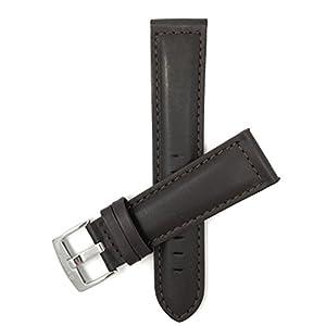 18mm – 30mm (Auch Verfügbar In Extra Lang, XL) Leder Uhrenarmband, Matte Oberfläche, Mit Naht , Braun, Schwarz, Helles Braun Und Hellbraun
