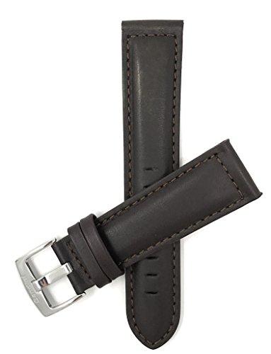 Leder Uhrenarmband 20mm, Braun, matte Oberfläche, mit Naht , auch verfügbar in schwarz, helles Braun und hellbraun
