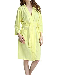 GODGETS Mujer Batas Kimono Algodón Camisón Encaje Pijama Túnica ...
