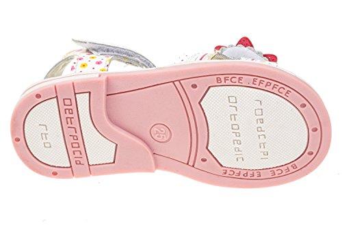 gibra , Sandales pour fille blanc/rose