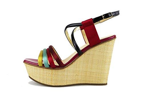 LELLA BALDI sandali multicolor tessuto AG128 (38 EU)