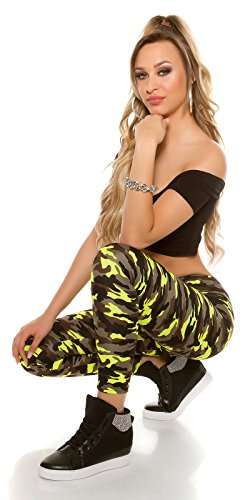 KouCla - Legging - Femme jaune fluo