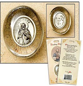 St Jude Healing Saint Pocket Stone Refill, Pack of 3 by Living Grace