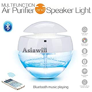 Asiawill Multifunction Wireless Bluetooth Air Purifier Speaker Light Can Connect to MP3 / Mobile Phone/Audio Equipment