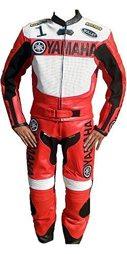 Corso Fashion Yamaha Herren-Motorradanzug aus Leder, CE-Schutz, Bikeranzug, maßgefertigt Gr. XX-Large, Mehrfarbig