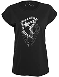 Famous Stars and Straps Ladies Top - Wings Black