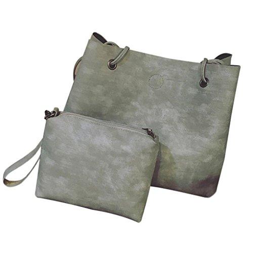 Longra Il sacchetto di spalla della singola spalla della sezione trasversale della sezione delle donne PU e il sacchetto di mano Grigio