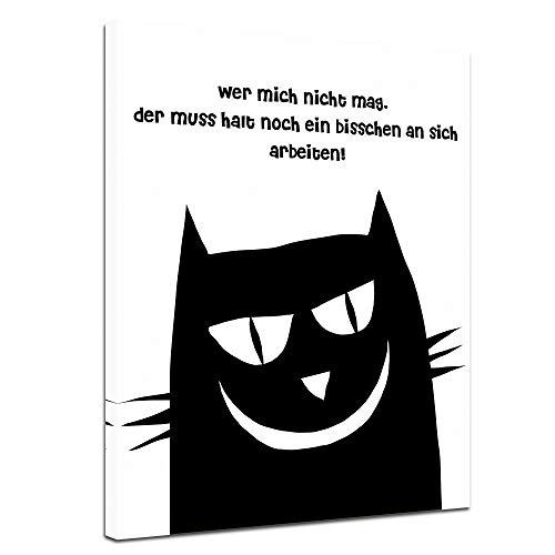 Bilderdepot24 Leinwandbild mit Zitat – Jeder Tag, an dem du Nicht lächelst, ist EIN verlorener Tag. – (Charlie Chaplin)