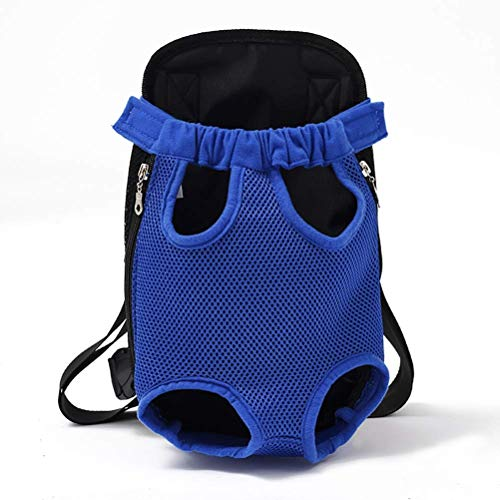 HUADEGO Pet Backpack,Pet Carrier Mesh Atmungsable Chest Pack Puppy Dog Backpack,Travel Carry Cat Dogs Portable Canvas Bags,Hands -Free Adjustable Pet Backpack