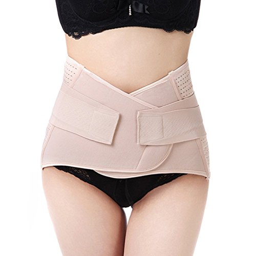 WANYI WANYI Taillenmieder für Postpartale Unterstützung, Amen Atmungsaktiv Elastisch Bauchweg Gürtel Bauchban abnehmen Gürtel Schlankheits-Gürtel 95CM