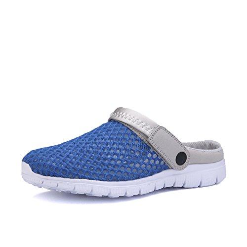 SAGUARO® Sommer Garten Clogs Sandalen Outdoor Freizeit Slippers Schlappen Hausschuhe Schuhe Damen Herren Kinder Dunkelblau