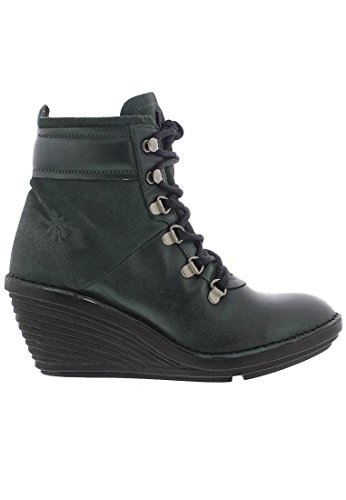 Fly London Womens Sica 678 Leather Boots Seaweed Bottle