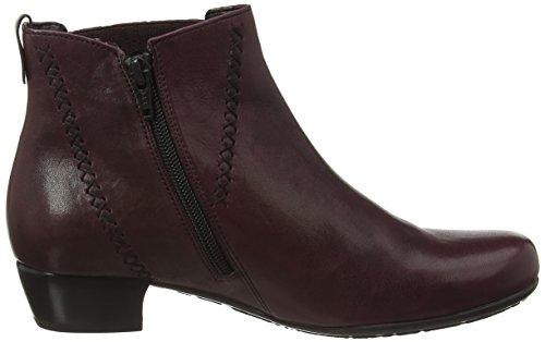 Gabor Shoes Comfort Basic, Stivaletti Donna Rosso (Dark-Merlot micro)