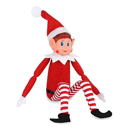 Elves On Shelves - Navidad Infantil Navidad Naughty Nice calcetín Juguete casa decoración (Solo Elfo)