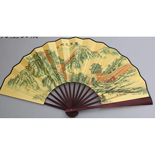 FSWYHRFD Dekoration Seide Falten Hand Fan Personalisierte Hochzeit Fan Bambus Landschaft Blume Tier Handwerk Fan (Hochzeit Fans Für Personalisierte)