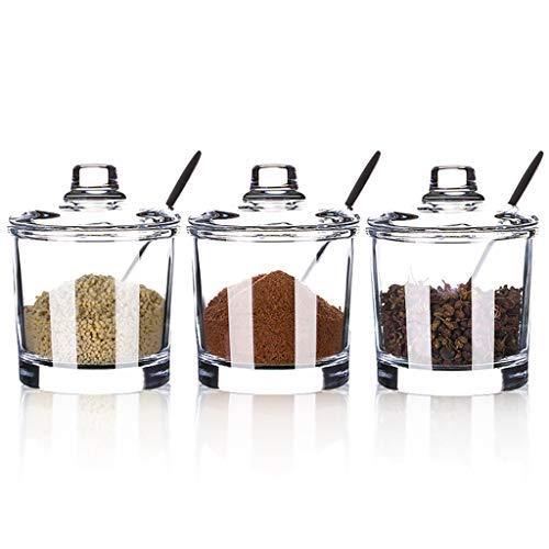 945763 Kitchen Supplies Caja de condimentos de Vidrio para Frasco de Especias Artículos de Cocina Castor Combinación de Traje Botella de aderezo Botella de Almacenamiento de Salsa