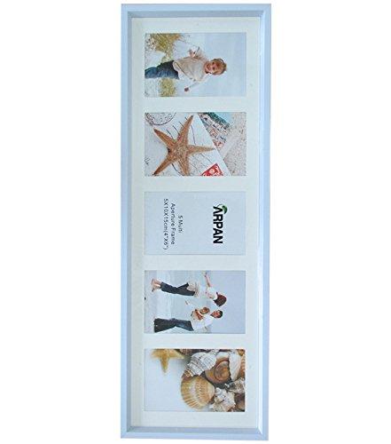 Arpan, Mehrfach-Bilderrahmen, für 3, 5 oder 6 Bilder, plastik, 5 Aperture White, 8 l x 16 h - Mehrfach-bilderrahmen Horizontale