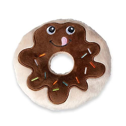 Karlie 521586 Hundespielzeug Plüsch Schoko Donut, 14 cm, braun (Donut Spielzeug Für Hunde)