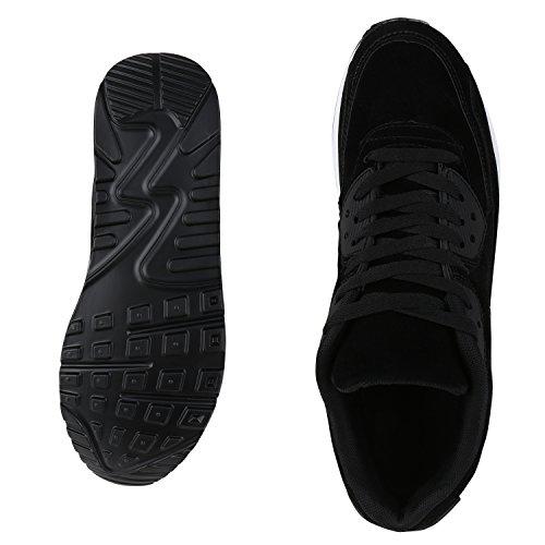 Knallige Damen Herren Unisex Sportschuhe | Auffällige Neon-Sneakers | Sportlicher Eyecatcher für Ihren Alltags-Look | Angenehmer Tragekomfort | Gr. 36-45 Schwarz Velours