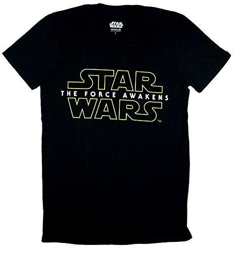 VII uomo ufficiale Star Wars La forza Awakens-Maglietta con Logo, colore: Nero
