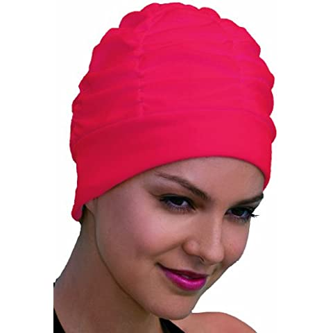 Fashy - Gorro de baño de tela rojo rojo Talla:talla única