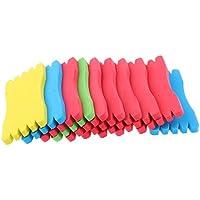 SGerste 10 piezas de rodamientos de espuma para aparejos de pesca Sabiki de línea de señuelo plumas de almacenamiento de 5 x 12