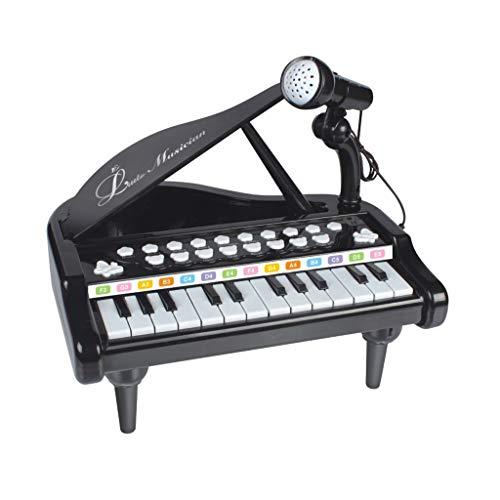 Igemy Klaviertastatur Spielzeug für Kinder Geburtstagsgeschenk 24 Tasten Multifunktionale Musikalische Elektronische Spielzeug (Schwarz)
