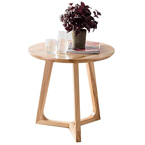 Oak Hall-möbel (Side Tables,Tables Oak Table Side Hall Lamp Plant Consol Tall Coffee Wine Hallway Furniture (Color : Wood Color, Size : 60 * 60 * 59cm))