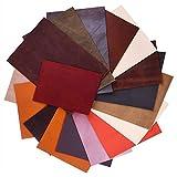 FEPITO 1kg Lederabfälle Verschiedene Größen Schattierungen Mischqualitäts-Altleder für Kunsthandwerk