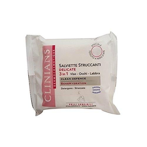 Clinians Dermocosmetique Salviettine Struccanti Delicate Viso/Occhi/Labbra 20 pezzi