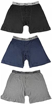 Details about Big King Size Duke London Mens New 3 Pack Buttonfly Cotton Trunks Boxer Shorts