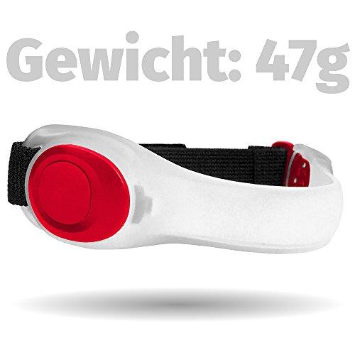 STYLETEC LED-Armband Leuchtband Lauflicht Sport-Licht für das nächtliche Joggen, Running, Walken, Radfahren