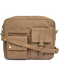 Gauge Machine Light Brown Messenger Bags