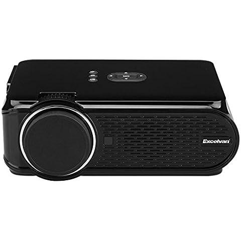 Excelvan Mini Portatili Proiettore LED 800 * 480 Multimedia Home Cinema Teatro VGA HDMI USB SD AV ATV Nero